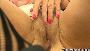 in nylons omis Pretty mature blonde sucks dick and fucked at glory hole6
