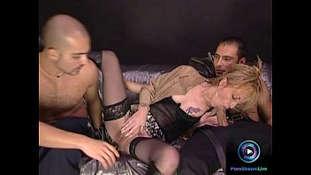 fucked chick her receives of both lusty fuck holes Cfnm ladies tie stripper in a sex swing