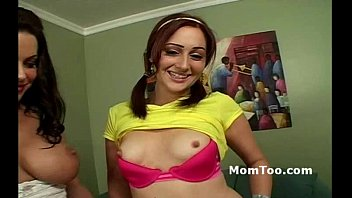 tv busty strip Couple first time thereesome