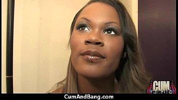 shemale black pounding hardcore Jizz on her face