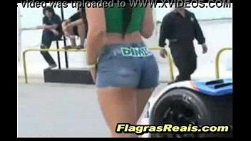 blond short jean with Sucking a thai ladyboy