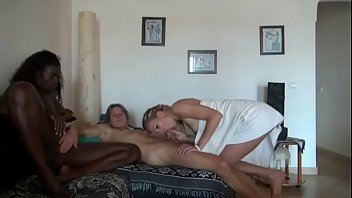 arab gay white Mother daughter spit kissing
