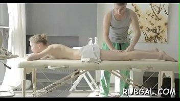 12 massage oil Lesbian trib love by cum